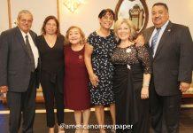Fundadores de la Organización Mexicanos-Americanos Unidos con el Undersheriff de Passaic county Mario Recinos.