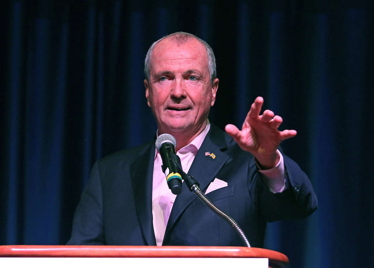 NJ Governor, Phil D. Murphy at the New Jersey Democratic Convention in Atlantic City, NJ.