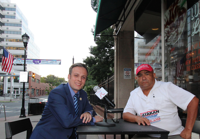 New Brunswick Mayoral Candidate, Charlie Kratovil and Oscar Alberto Quintana. AMERICANO Publisher.