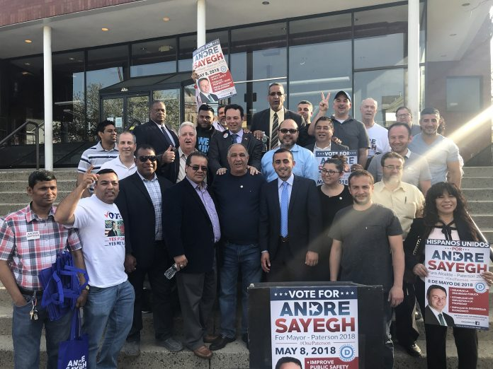 Vips supporting Councilman Andre Sayegh for Mayor of Paterson, NJ.