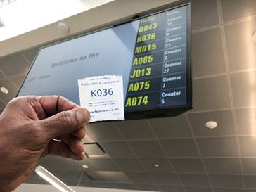 El sistema de turnos (Queuing system) ya está disponible en 18 de las 39 agencias.