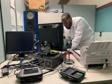Estación de prueba del REAL ID agencia Regional de Trenton.