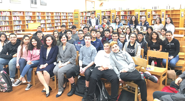 The first role models—HISPA CEO Dr. Ivonne Díaz-Claisse and Sandra Batista, Ph.D. and Princeton University Computer Science Lecturer—shared their educational and professional journeys with students.