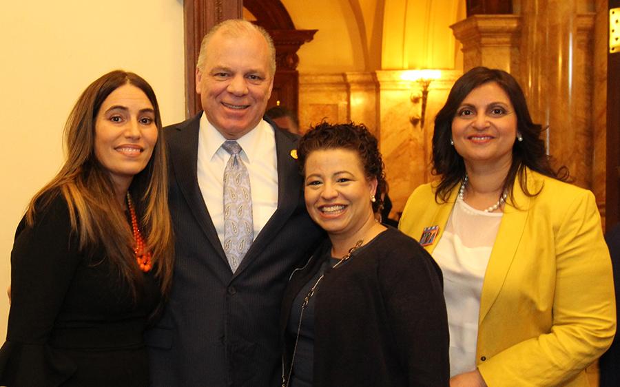 NJ Senator  M.Teresa Ruiz, NJ Senate President, Steve M. Sweeney, Wendy S. Martinez and Carol Cuadrado.