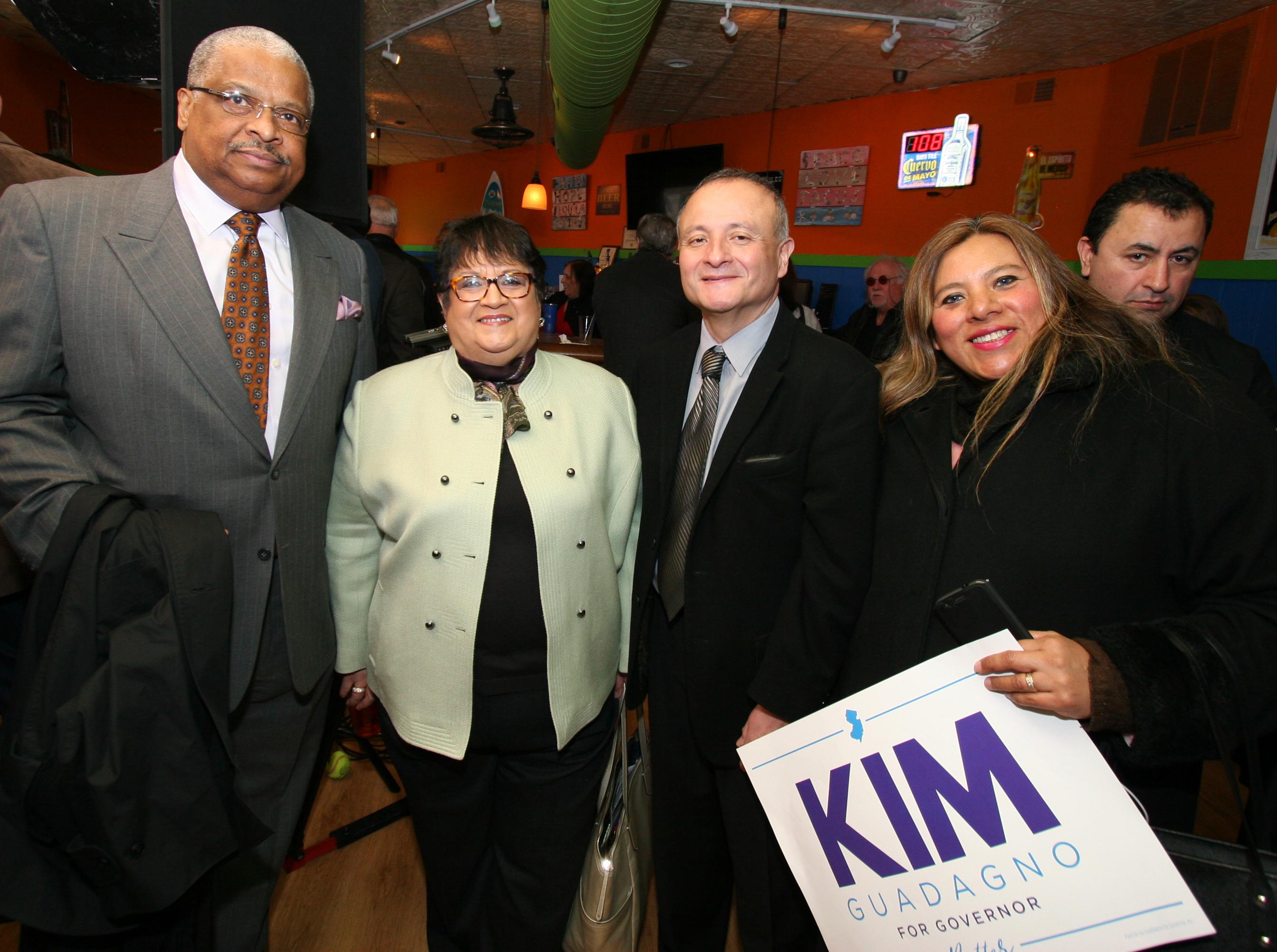 Lydia Valencia of Puerto Rican Congress, Dr. Hector Castillo and Jenny Pajuelo.