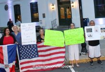 Protest #1 in front of Perth Amboy City Hall, September 26, 2018.