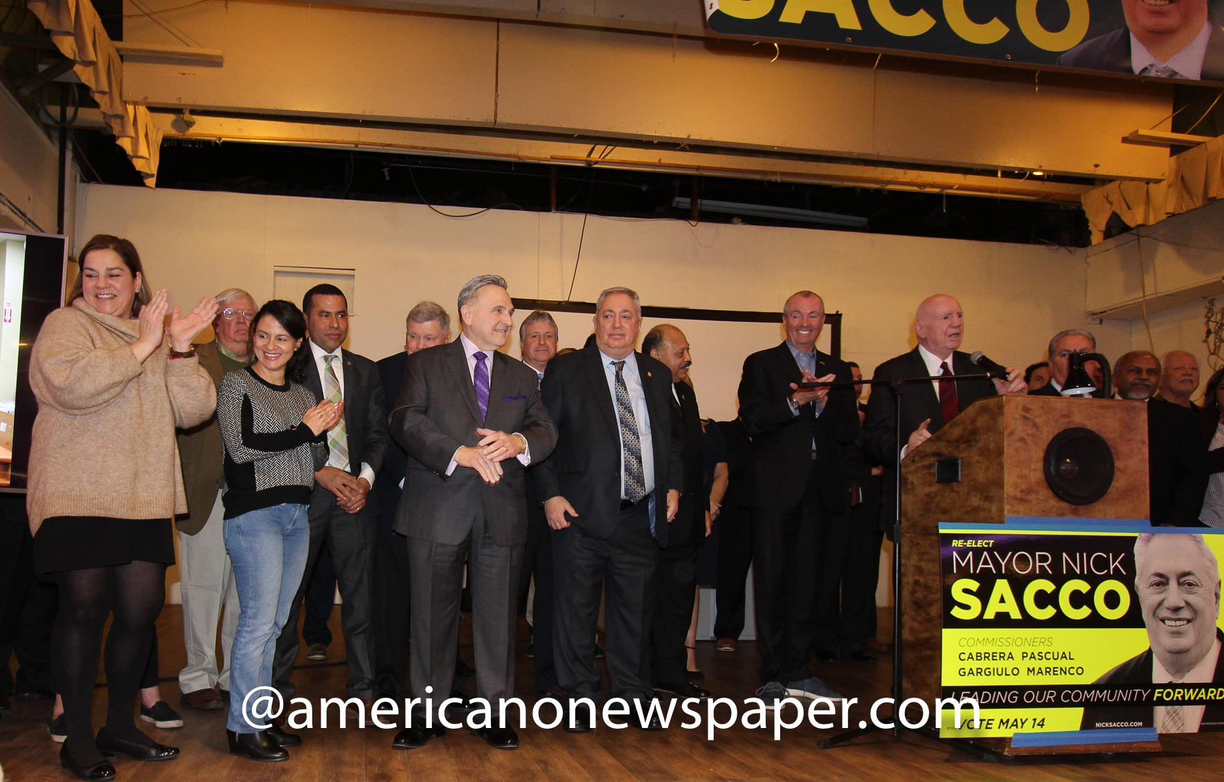Mayor Nick Sacco Kickoff campaign event at a hall in Union City, New Jersey.