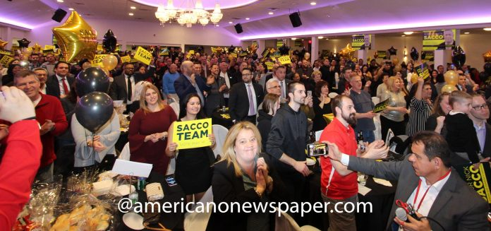 Mayor Nicolas Sacco Kickoff campaign event at a hall in Union City, New Jersey.