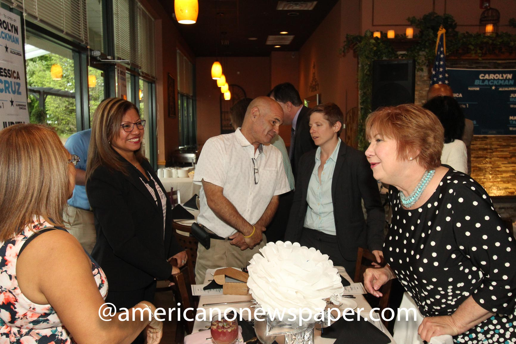A sold out event gathered political dignitaries and excited Dover Democrats at the The Corner Bistro in Randolph, NJ.