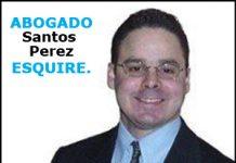 El abogado Santos Perez.
