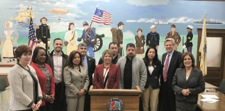 Patricia Campos Medina, President LUPEPAC at immigrants impact forum in Perth Amboy, New Jersey.