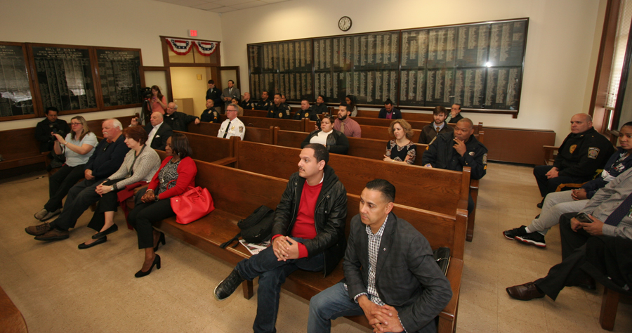 Audience during the presentation about the positive impact immigrants have on the US economy.