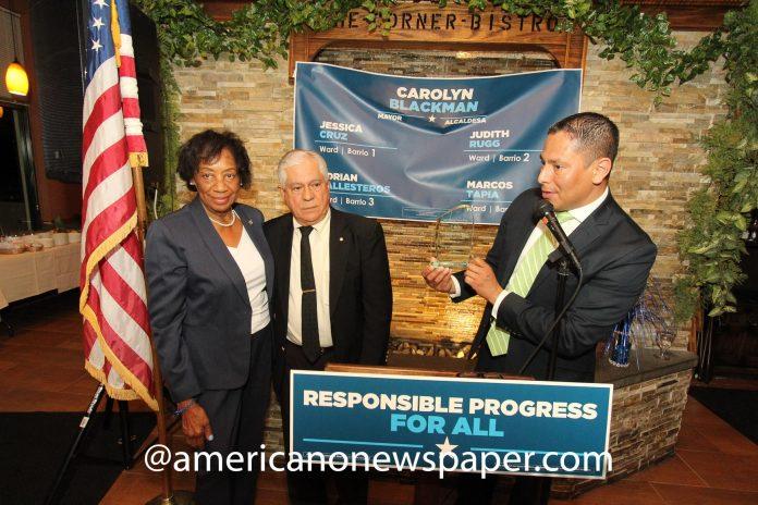 Carolyn Blackman, Francisco De Jesús, and Edward Correa.
